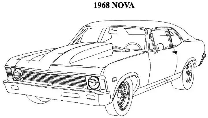 1970 chevy monte carlo pencil drawing