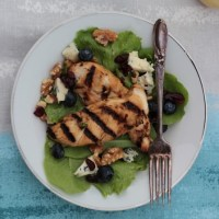 Grilled honey jalapeno chicken salad with citrus vinaigrette