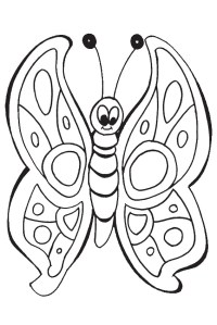 List of beautiful caterpillar and butterfly coloring pages