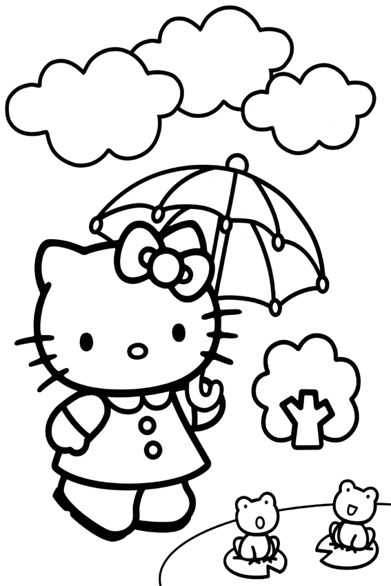 hello-kitty-at-the-doctorjpg (567×850) 著畫 Pinterest - new coloring pages with hello kitty