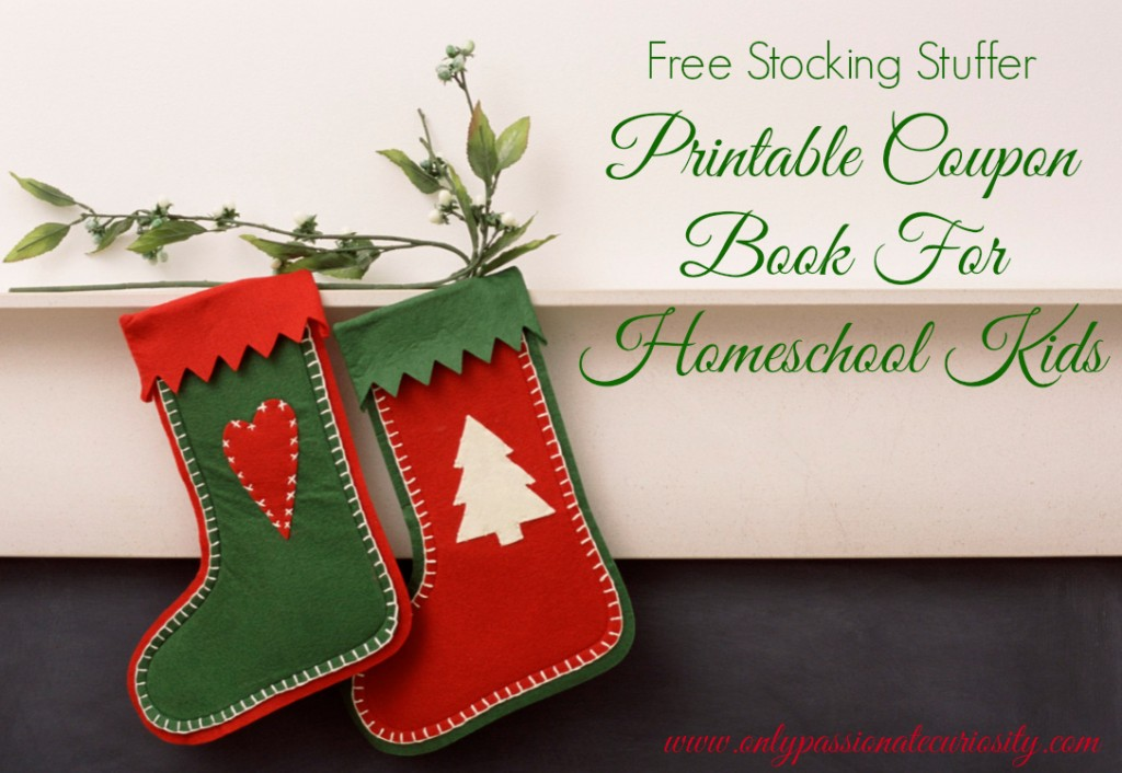 Free Printable Stocking Stuffer { Coupon Book for Homeschoolers