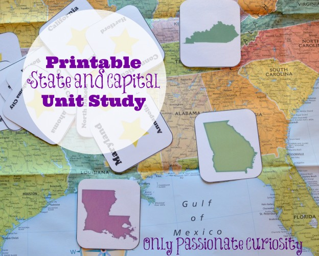 States and Capitals Printable Flash Cards and Worksheets - Only