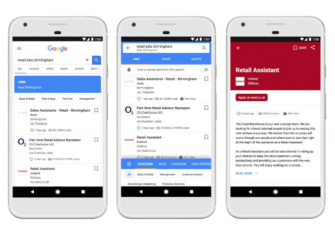 Helping more people in the UK find their next job - Google for Jobs