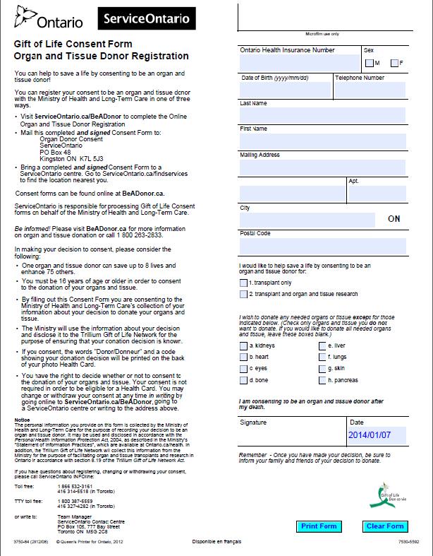Behavioural Insights Pilot Project \u2013 Organ Donor Registration