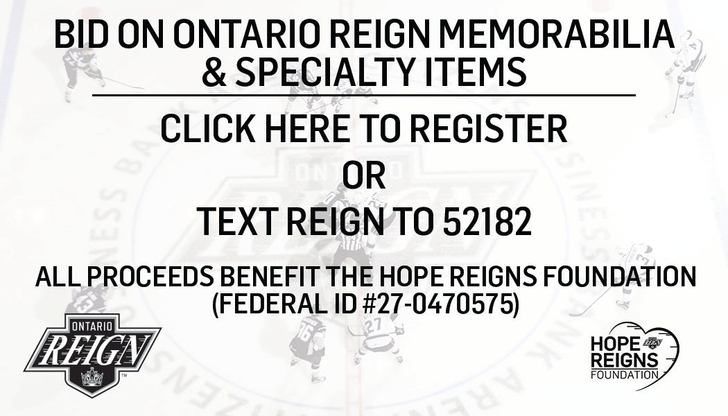 Ontario Reign Silent Auctions  Ontario Reign