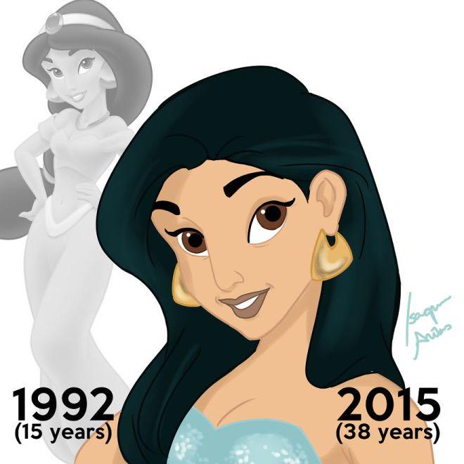 صوررسومات تجعل أميرات ديزني كبيرات بالعمر ياسمين.jpg?resize=66