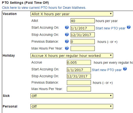 Employee PTO Tracking And Online Time Clock \u2022 OnTheClock