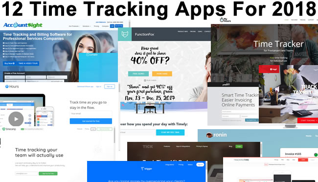 The 12 Best Time Tracking Apps For 2018 \u2022 OnTheClock Time Clock