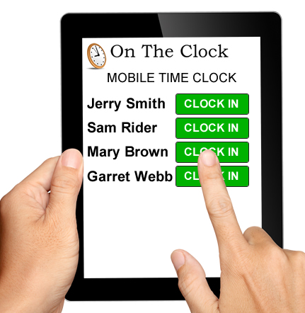 Mobile Time Clock For Employees \u2022 OnTheClock Time Clock
