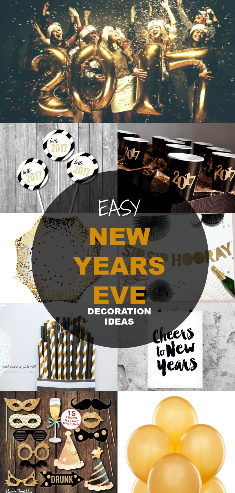 Fantastic New Years Eve Decoration Ideas New Years Eve Decoration Ideas On Cutting Printable New Years Eve Decorations Ideas New Years Eve Decorations 2016 decor New Years Eve Decorations