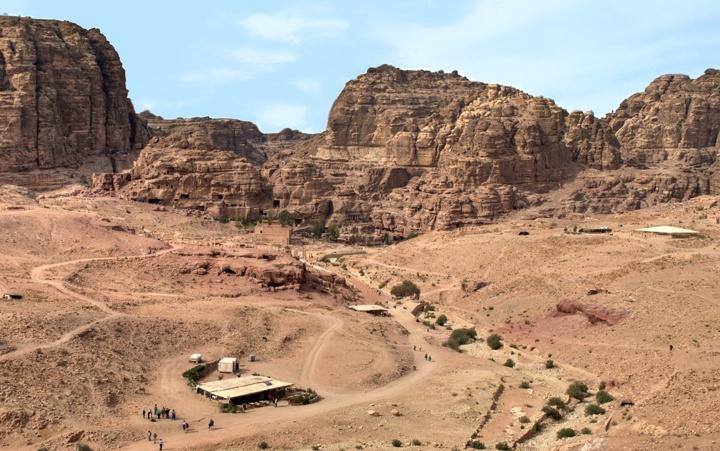 View from the Royal Tombs across Petra, Jordan