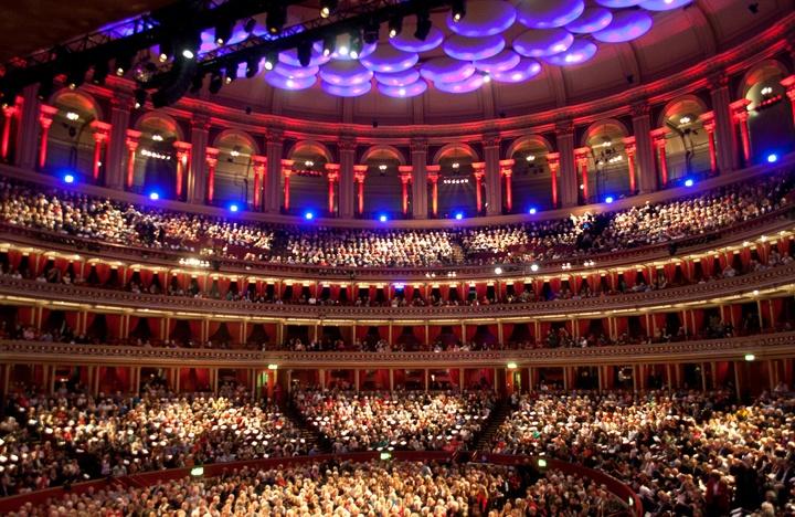 Inside the Royal Albert Hall, London