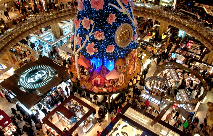 Galeries Lafayette department store, Paris