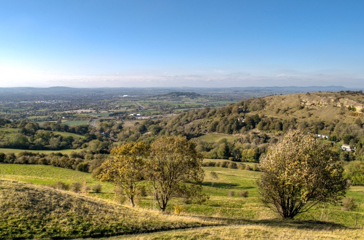 The Cotswolds from Birdlip in Gloucestershire