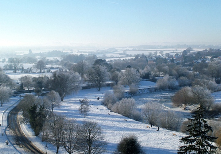 Snow in Ross on Wye