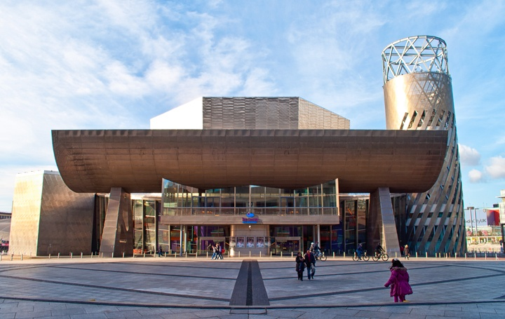 The Lowry centre in Salford Quays