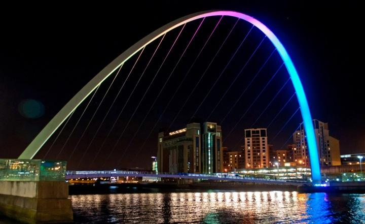 Bridges across the Tyne in Newcastle Gateshead