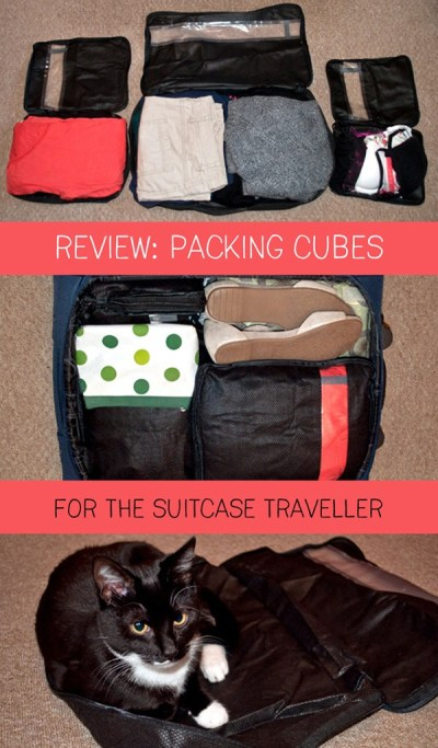 Packing cubes for the suitcase traveller