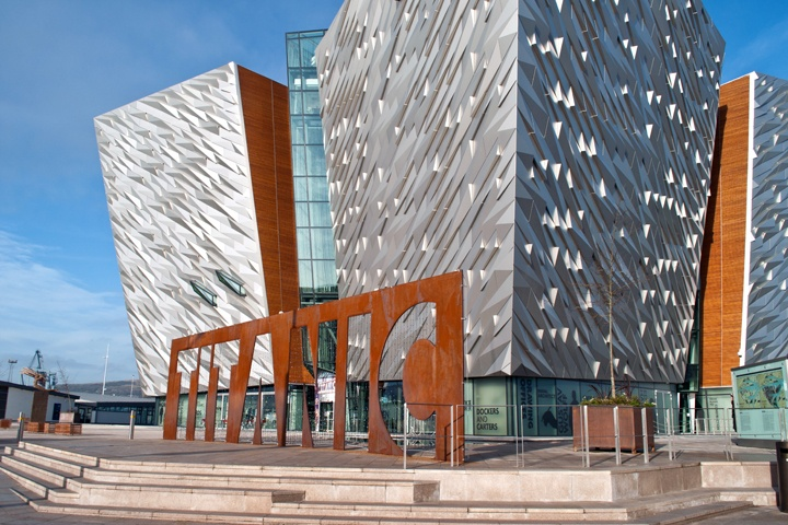 The Titanic museum in Belfast
