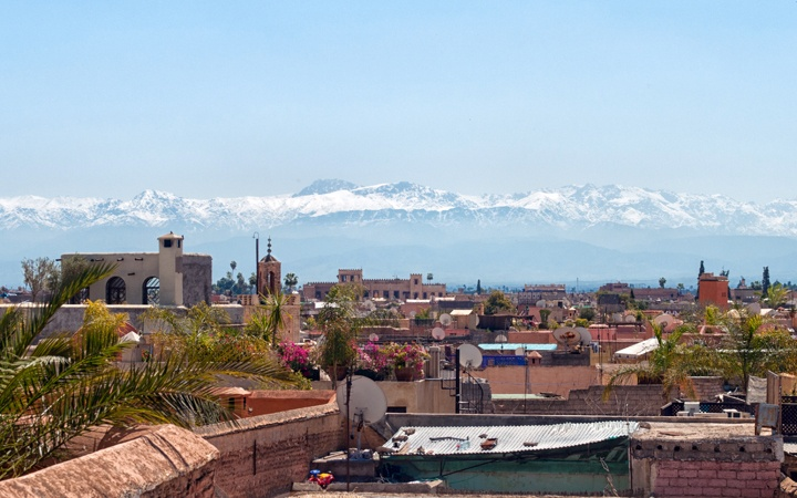 View of Atlas Mountains from Riad Capaldi, Marrakech