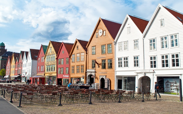 Bryggen old town in Bergen, Norway