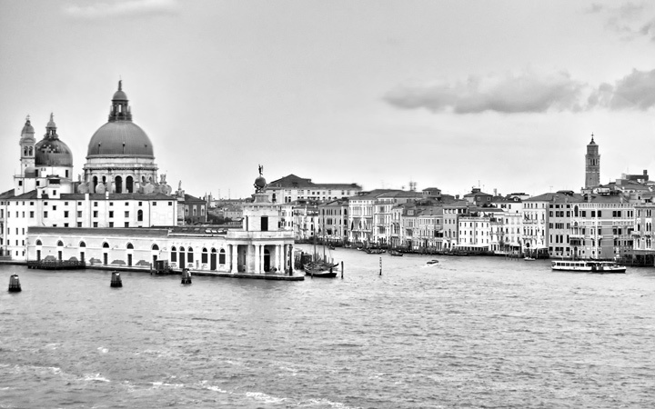 Sailing out of Venice, Italy