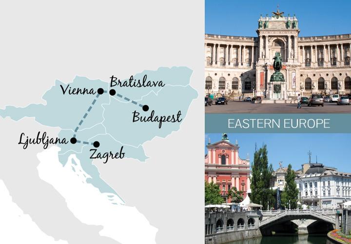 A one-week rail trip itinerary in Eastern Europe