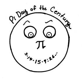 Pi Day of the Century 2015 sign