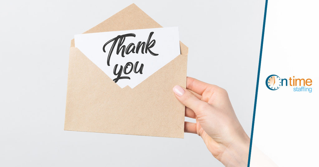 Today\u0027s Thank-You Note Could Lead to Tomorrow\u0027s Job Offer - On Time