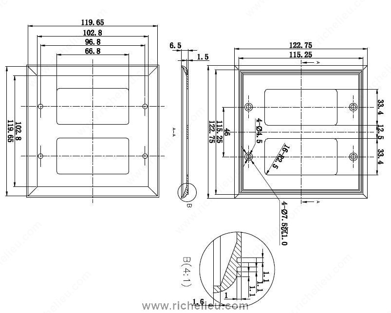 contact switch for sliding doors or windows