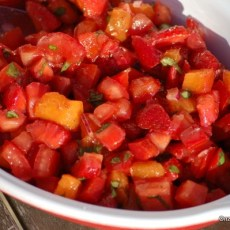 tomatensalade met abrikoos