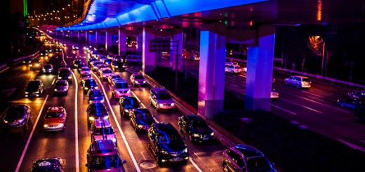 Photo of Shanghai traffic at night