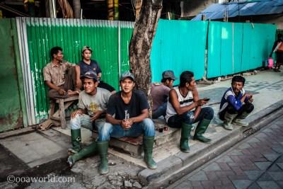 Workers Lunch Break Kuta Bali