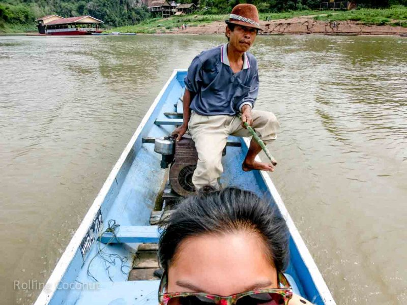 River Boat Crossing Pak Ou Cave Luang Prabang Laos Rolling Coconut Ooaworld Photo Ooaworld