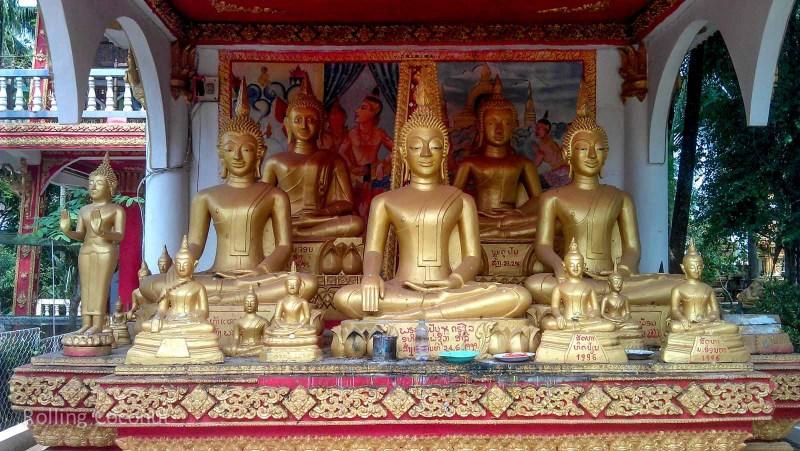 Buddhas Vientiane Laos Rolling Coconut Ooaworld Photo Ooaworld