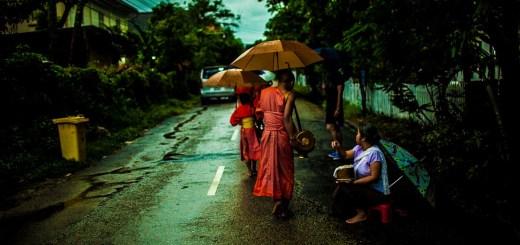 Feeding Monks Laos Video Alms Giving Tak Bat Monk Walk Luang Prabang Photo Ooaworld