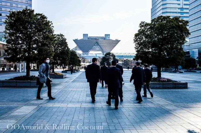 Workers at Lunch Time in Odaiba Tokyo Japan Photo Ooaworld