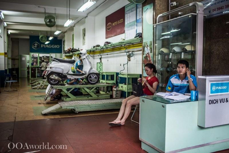 Piaggio Hanoi Vietnam Photo Ooaworld