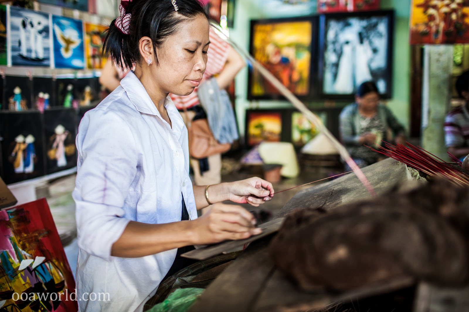 Making Incense Vietnam Photo Ooaworld