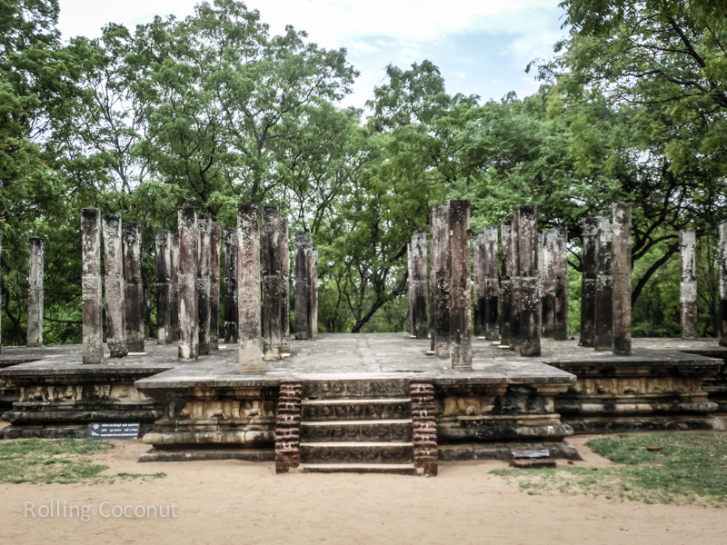 Ruins Stage Polonnaruwa Sri Lanka ooaworld Rolling Coconut Photo Ooaworld