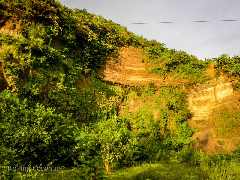 Bangladesh Cox Bazar Cliffs on the Side of the Road ooaworld Rolling Coconut Photo Ooaworld