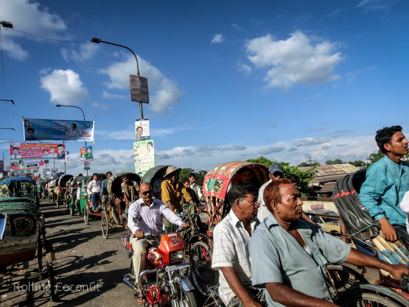 Bangladesh Sylhet Road Rickshaw ooaworld Rolling Coconut Photo Ooaworld
