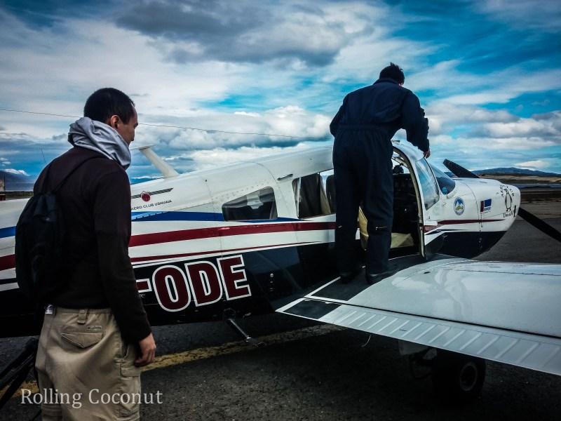 Ushuaia Argentina Flight Boarding Plane ooaworld Rolling Coconut Photo Ooaworld
