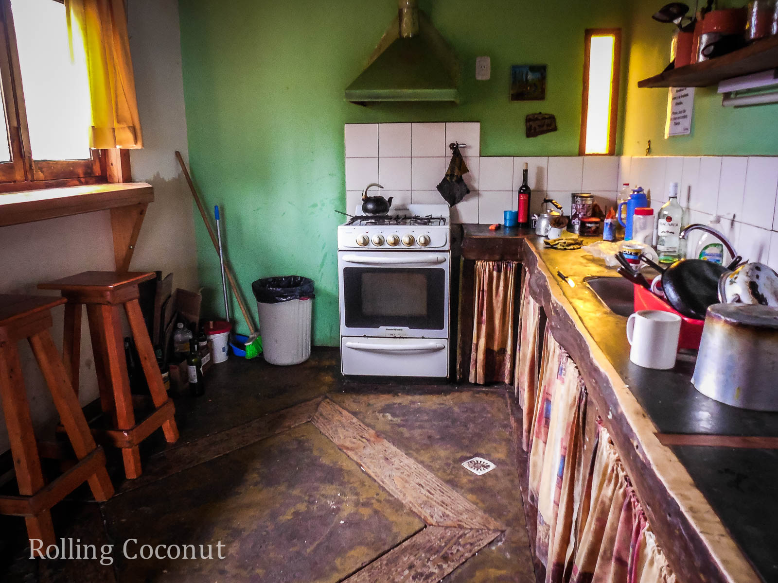 El Chalten Argentina Patagonia Refugio Chalten Kitchen ooaworld Rolling Coconut Photo Ooaworld