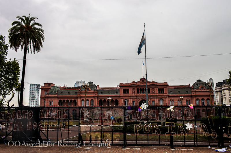 Argentina Buenos Aires Sites and Monuments Casa Rosada or the Pink Palace Rolling Coconut OOAworld Photo Ooaworld
