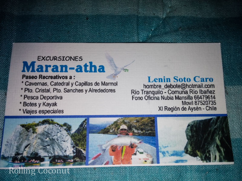 Puerto Rio Tranquilo Chile Maranatha Card Rolling Coconut OOAworld Photo Ooaworld