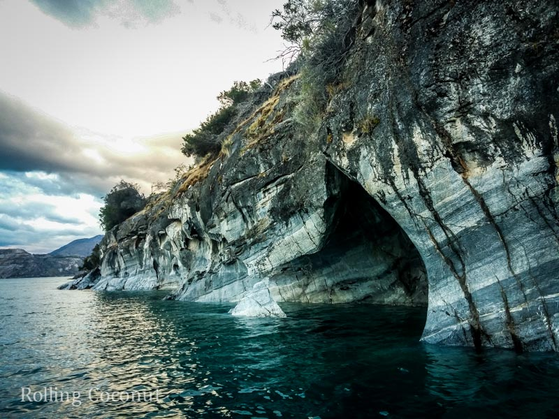 Puerto Rio Tranquilo Chile Marble Caves 5 Rolling Coconut OOAworld Photo Ooaworld