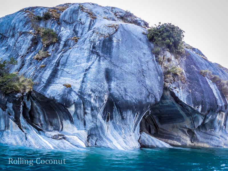 Puerto Rio Tranquilo Chile Waterfront Marble Caves Sanchez Rolling Coconut OOAworld Photo Ooaworld