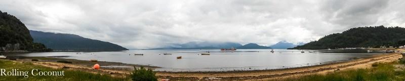 Chile Puerto Cisnes Panorama Bay Rolling Coconut OOAworld Photo Ooaworld