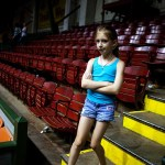 Little girl stands after the roder in Fort Worth Ballet